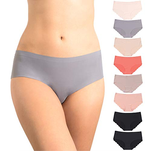 Pretty Sweet Basics Women's Laser Cut Bikini Hipster Panties, Pack of 8