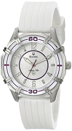 Bulova Womens 96L144 Solano Marine Star Rubber Watch