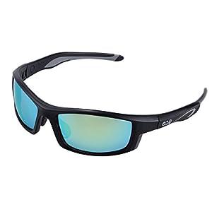 O2O Polarized Sports Sunglasses for Men Women Teens Youth Golf Driving Fishing Running Superlight Frame (Black)
