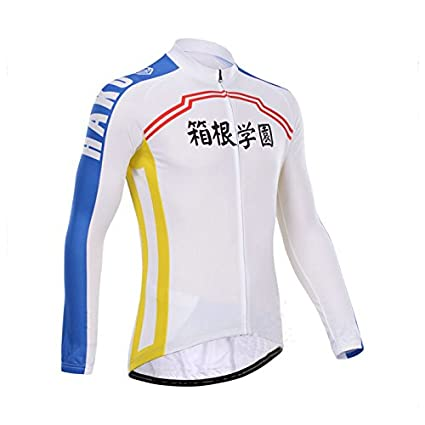 8900efdf3 Image Unavailable. Image not available for. Color  Yowamushi Pedal Men s  Pro Team Breathable Long Sleeve Cycling Jersey HAKOGAKU