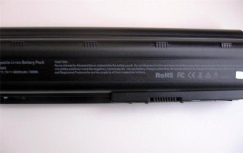 Replacement 9 Cell 10.8v 6600mah extended Battery Power Pack for Hp Laptop Computer Models: G7-1326dx G7-1327dx G7-1328dx G7-1329wm G7-1330ca G7-1330dx G7-1333ca G7-1338dx G7-1340dx G7-1350dx G7-1355dx G7-1358dx G7-1365dx G7-1368dx G7-1374ca G7-2002xx G7-2010nr