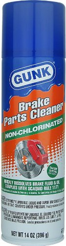 GUNK M710-12PK Non-Chlorinated Brake Parts Cleaner - 14 oz., (Case of 12)