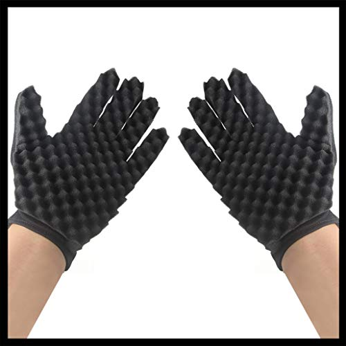 Coohole Curl Hair Sponge Gloves for Barbers Wave Twist Brush Gloves Styling Tool For Curly Hair Styling (Right) by Coohole (Image #4)
