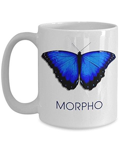 Costa Rica coffee mug Tazas de Mariposas Morpho Blue Butterfly ceramic cup
