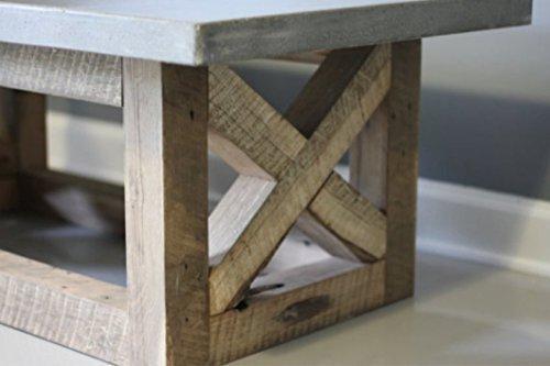 Amazoncom Concrete Coffee Table Reclaimed Wood Base Handmade