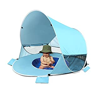 [2018 UPGRADED] Baby Beach Tent-Pop Up Beach Tent With Pool Shade Cabana Portable UV Sun Shelter
