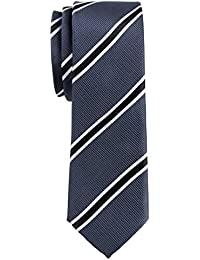 "British Bar Striped Woven Microfiber 2"" Skinny Tie - Various Colors"