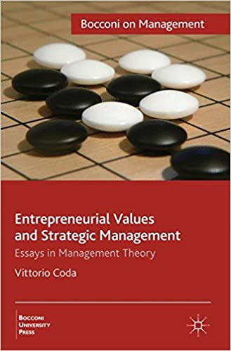 amazon com entrepreneurial values and strategic management  amazon com entrepreneurial values and strategic management essays in management theory bocconi on management 9780230250161 v coda books