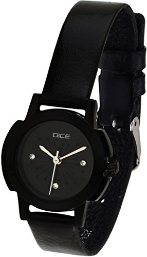 Dice Women's Analogue Black Dial Watch – EBN-B147-6418