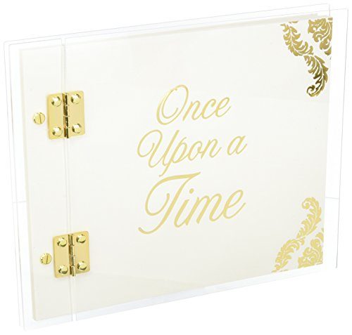 Darice Guest Book David Tutera, Clear Acrylic Cover Fairytale Guestbook - Theme Fairy Book Guest Tale