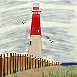 Barnegat NJ Lighthouse Light House Decorative Wall Art Tile 4x4