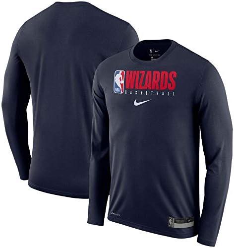 """メンズ ロンT""""Washington Wizards"""" Nike Practice Legend Performance Long Sleeve T-Shirt ウィザーズ 長袖 Navy_XL [並行輸入品]"""
