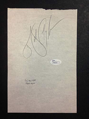 (Walter Payton Bears Autographed Signed 6X9 Paper Cut Autographed Signed At 1986 Pro Bowl Signature Memorabilia - JSA Authentic)