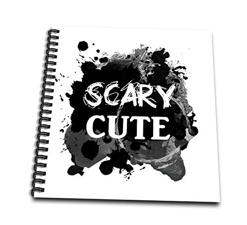 3dRose InspirationzStore - Occasions - Scary Cute - Funny Halloween Humor - humorous So sweet its Spooky - Drawing Book 8 x 8 inch (db_317322_1) -