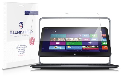 iLLumiShield - Dell XPS 12 Crystal Clear Screen Protectors with Anti-Bubble/Anti-Fingerprint - 2-Pack + Lifetime - Protector Screen Xps 12