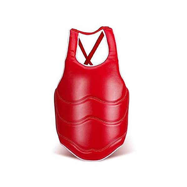 Feixunfan-Chest-Guard-Body-Protector-Rib-Shield-Boxing-Chest-Guard-Armour-Taekwondo-Training-Body-Protective-Gear-For-Adults-And-Kids-for-Boxing-MMA-Color-Red-Size-S