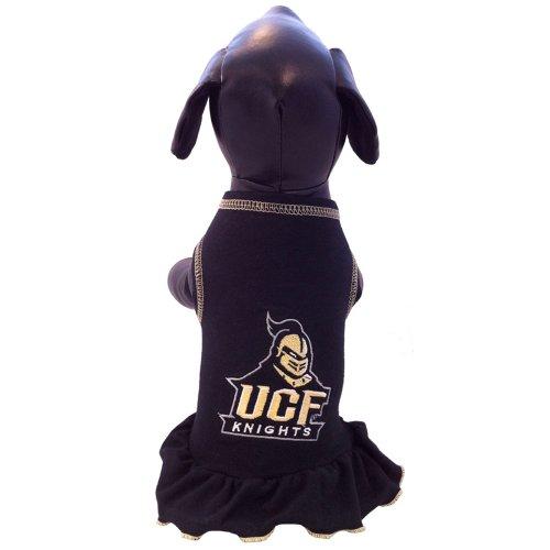 All Star Dogs NCAA Central Florida Golden Knights Cheerleader Dog Dress, XX-Small - Ncaa Cheerleader Uniforms
