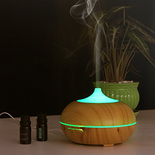 InnoGear 300ml Aromatherapy Essential Oil Diffuser Wood