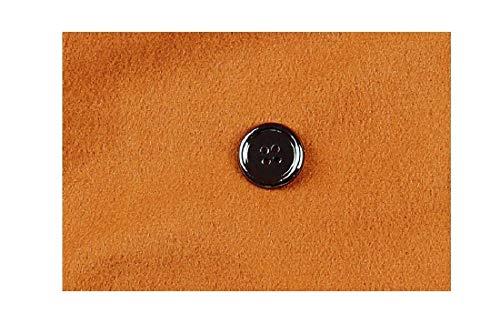 Mogogo Delle Cappotto Dotato Il Sua Bottone Di Collare As2 Basso Volta Caldo Donne Doppio Verso Lana AtrAqaw