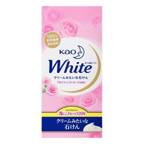 頭痛キーコース【花王】花王ホワイト アロマティックローズの香りレギュラーサイズ (85g×6個) ×10個セット
