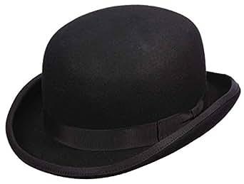 6455fd6363f Capas Low Crown Wool Felt Satin Lined Derby Hat at Amazon Men s ...