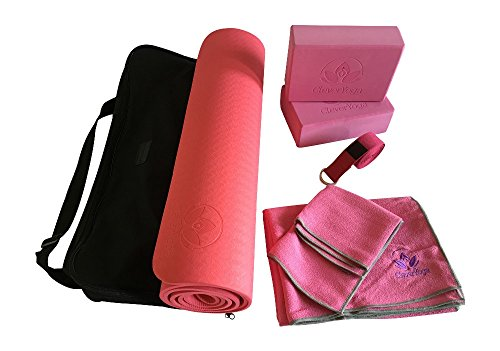 Complete Yoga Kit Set Everything You Need To Get Started 7 Piece Equipment Set Incl. Yoga Exercise Mat, Yoga Blocks, Yoga Strap, Yoga Towel Set And Carry Case Perfect Gift For Yogis