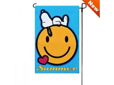 (Jetmax Peanuts SMILE SUMMER Garden Flag 12