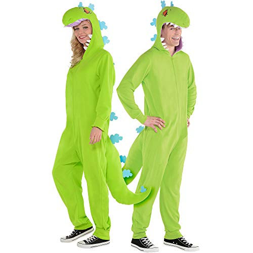 amscan Rugrats Zipster Reptar One Piece Halloween Costume for Adults, Small/Medium, -