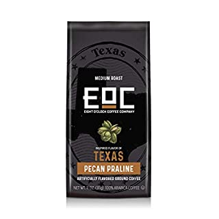 Eight O'Clock Coffee Flavors of America Ground Coffee, Texas Pecan Praline, 11 Ounce