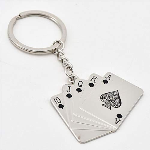 Amazon.com: Eaglers Llavero Metal Keychain Royal Flush Poker ...