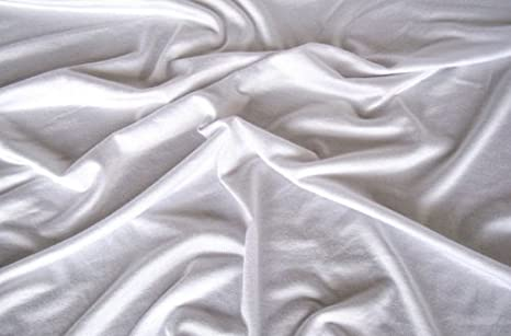 4a24934b44b Image Unavailable. Image not available for. Colour: White Viscose Elastane  Spandex (Stretch) Fabric ...