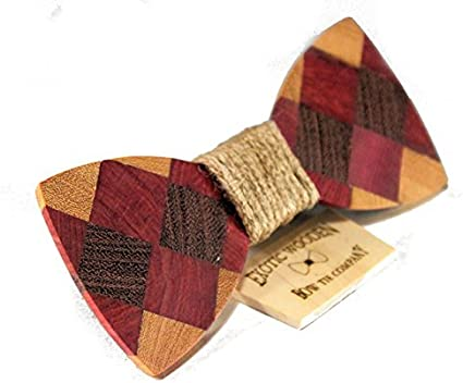 Solid Multi Wood Bow Tie