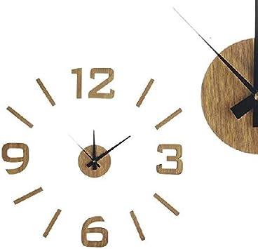 Dcasa Adhesivo Efecto Madera Relojes de Escritorio Decoración del hogar Unisex Adulto, Color, 60x0,1x60