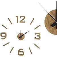 Dcasa Adhesivo Efecto Madera Relojes de Escritorio Decoración