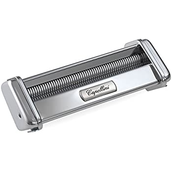 Marcato Atlas Capellini Pasta Cutter Attachment, Made in Italy, Stainless Steel, Works with Atlas Pasta Machine