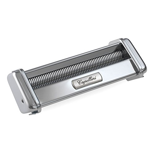 Marcato Atlas Capellini Pasta Cutter Attachment, 8327, Made in Italy, Works with Atlas 150 Pasta Machine (Pasta Attachment Hair)