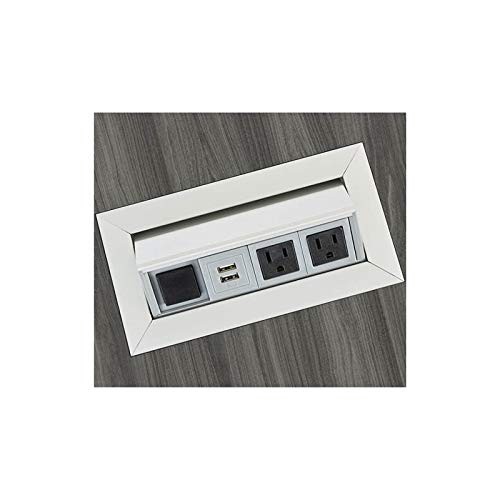 Safco Power Module with 2 Power and 2 USB Outlets in Silver by Safco