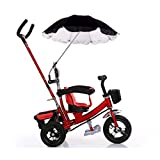 Jinjin Baby Stroller Umbrella with Clamp -Wheelchair Pushchair and Holder Parasol Protection UV Rays Outdoor Umbrella for Sun Rain (Black)