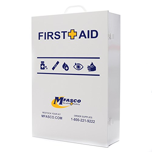 4 Shelf Empty Industrial First Aid Box With First Aid Logo