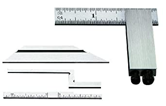 """Starrett 453E Inch Reading Diemakers' Square Complete With Standard, Bevel, Narrow And Offset Blades, 2-1/2"""" Size"""