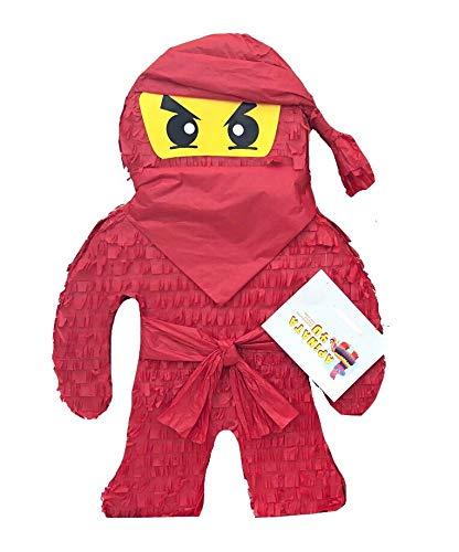 Amazon.com: APINATA4U 2FT Tall Red Ninja Pinata Ninja Theme ...
