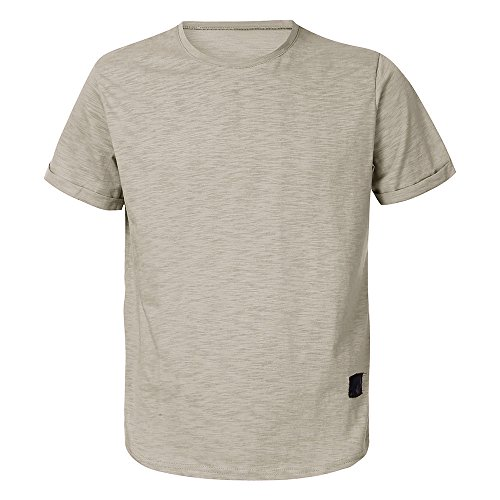 Gris Slim Muscle shirt Simple O Amlaiworld Tops Casual Cotton Hommes Tee Manche T Fit Courte Cou Blouse xw4WfapqC