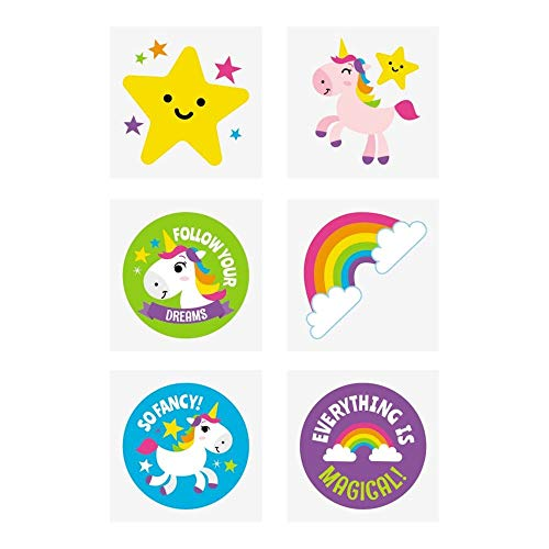 Rainbow Unicorn Tattoos - 72 pc