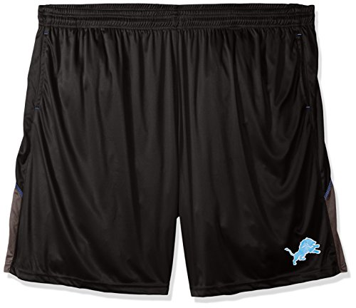 Profile Big & Tall NFL Detroit Lions Adult Men NFL Plus Synthetic Shorts,5X,Black