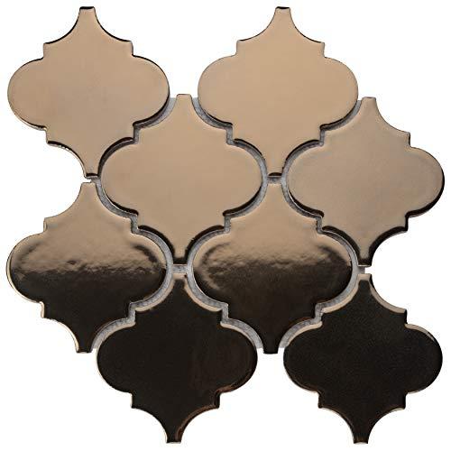 SomerTile FSDELTBB Essentia Lantern Porcelain Mosaic Floor and Wall Tile, 10.5