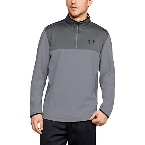 Under Armour Men's Coldgear Infrared Fleece ¼ Zip Sweat Shirt, Steel (036)/Black, XXXX-Large