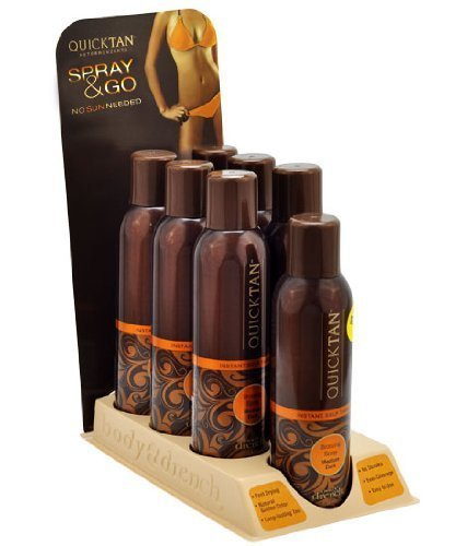DISPLAY LOT 7 Body Drench Quick Tan Tanning Mist Sunless Tanner Sun Kissed Spray - Spray Display