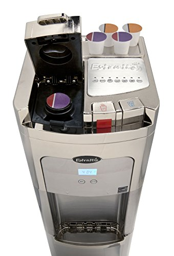 Coffee Maker & Water Cooler K Cup Compatible : Estratto Commercial Filtering Single Cup Coffee Maker & Maximum Stainless Water Cooler - Buy ...