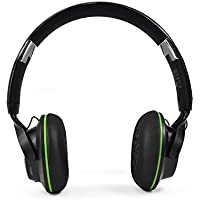 Disnix DS3 Bluetooth 4.0 NFC Foldable Stereo Headphones Wireless + Wired Headsets with Microphone for Music Streaming and Hands-free Calling included a Protection Carrying Bag