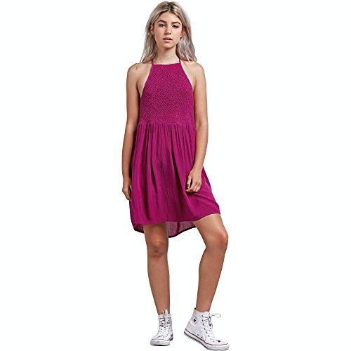 Volcom Junior's Haute Stone Mini Tank Dress, Paradise Purple, Medium